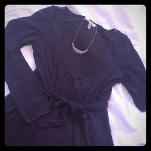 Free People Chocolate Brown V neck dress